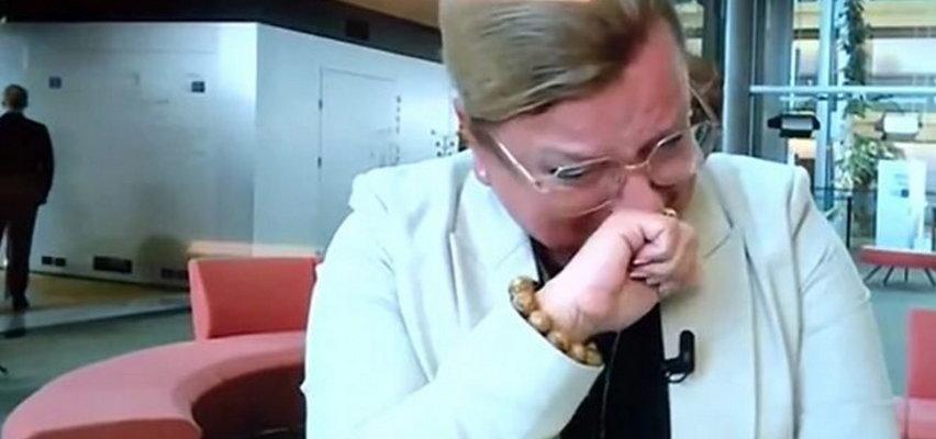 """Beata Kempa popłakała się na wizji. Jest pewna, że Sikorski """"byłby w stanie uderzyć kobietę"""""""