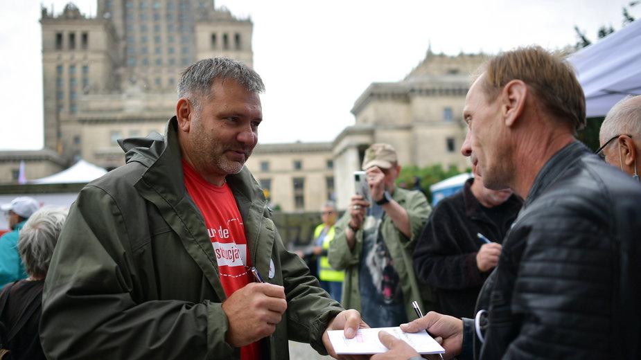 Waldemar Żurek podczas finału #TourdeKonstytucjaPL