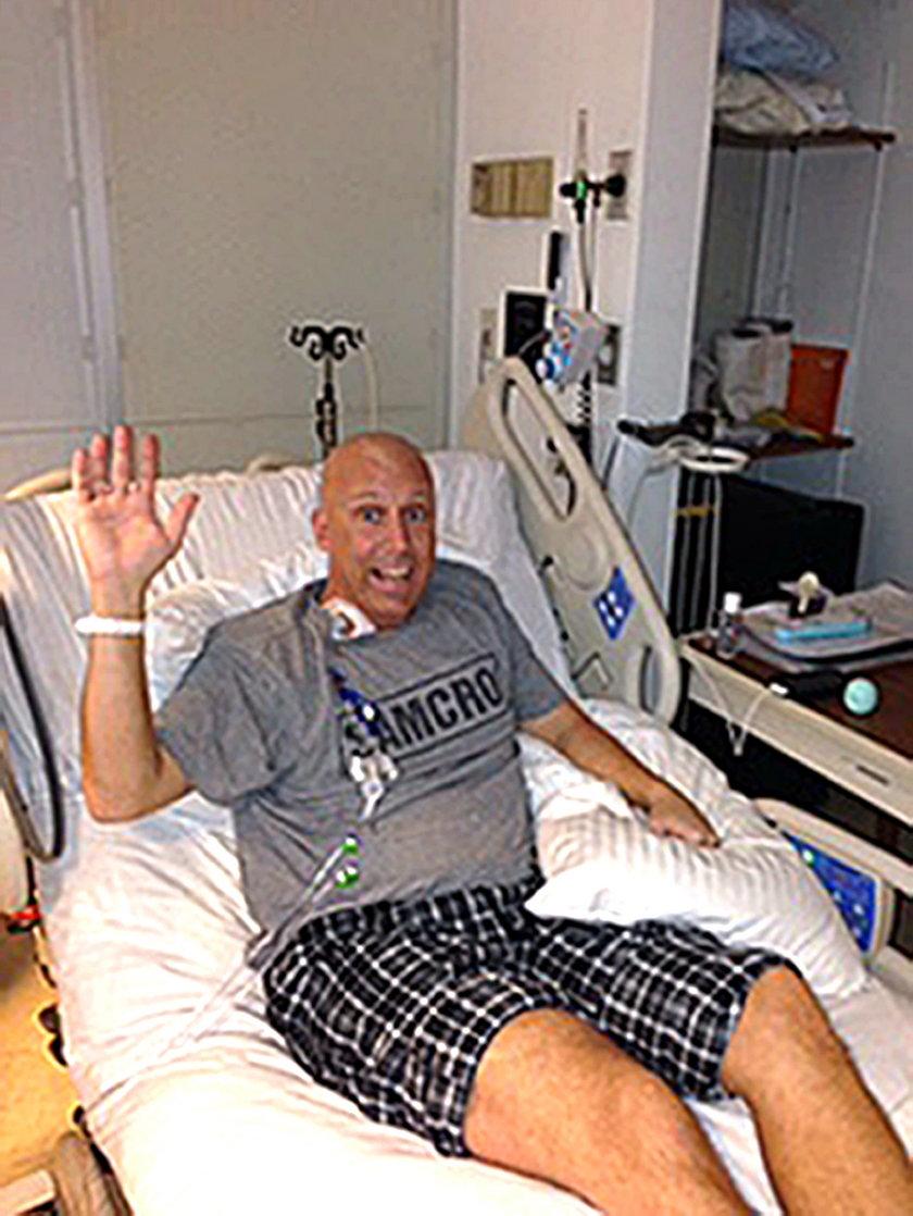 Greg Holgerson w szpitalu