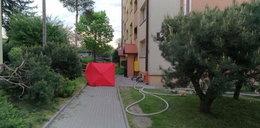 Tragiczny pożar w bloku w Dąbrowie Tarnowskiej. Nie żyje jedna osoba