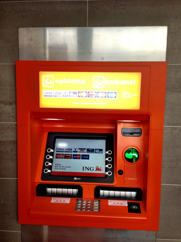 Bankomat zbliżeniowy