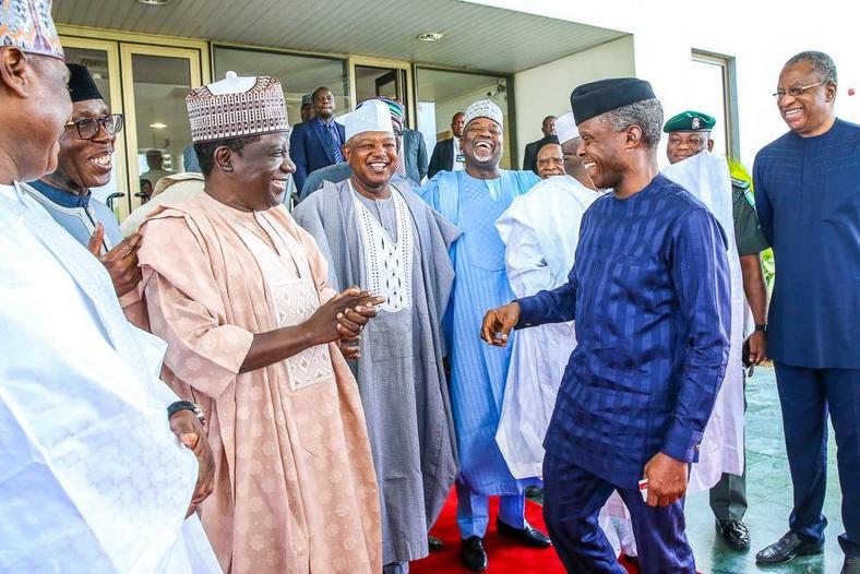 Osinbajo and and Governors at the launch of 'The Green Imperative'