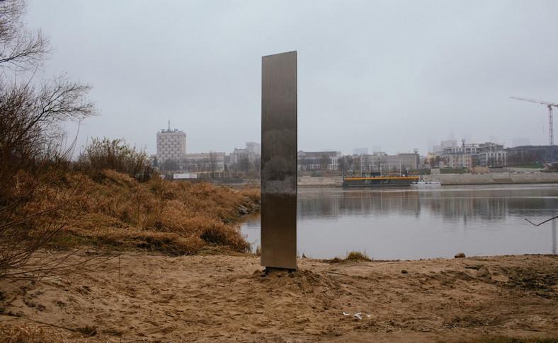 Instalacja w okolicy Mostu Świętokrzyskiego