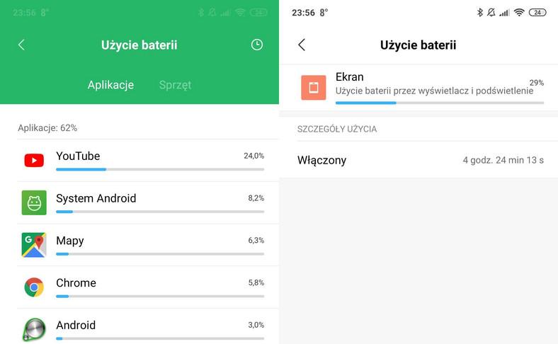 Xiaomi Mi Mix 3 - czas pracy na baterii