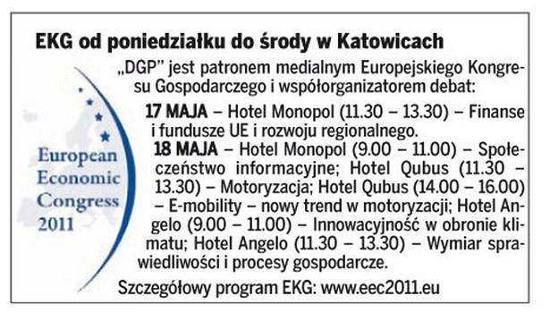 Europejski Kongres Gospodarczy - program