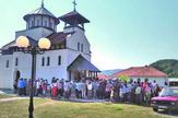 Nova crkva zamena Gracanice u selu Tubravic liturgija_foto Predrag Vujanac