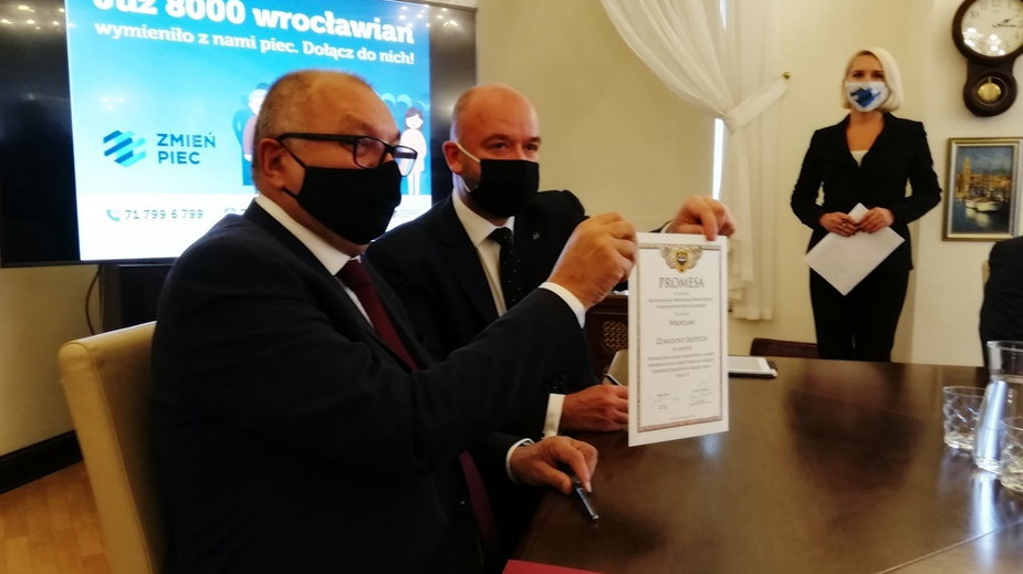 Marszałek Cezary Przybylski i prezydent Jacek Sutryk