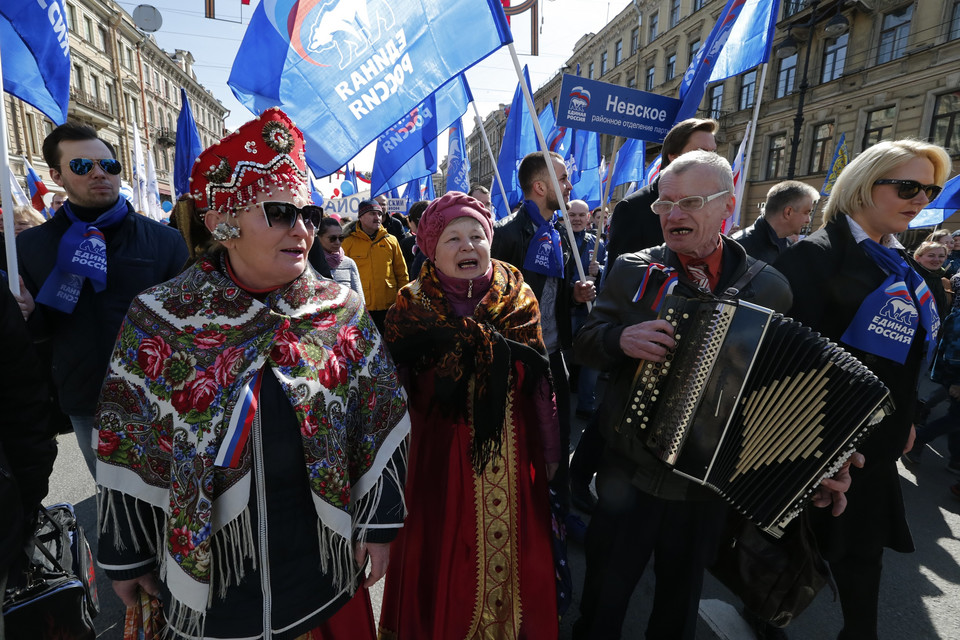 RUSSIA LABOR DAY (May Day demonstration in St. Petersburg)