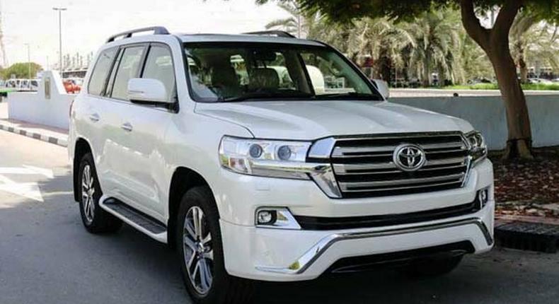A Toyota Land Cruiser