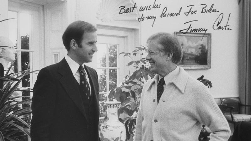 Biden jó benyomásokkal távozott Magyarországról, és támogatta Jimmy Carter amerikai elnököt a Szent Korona hazajuttatásában / Fotó: Wikimedia Commons