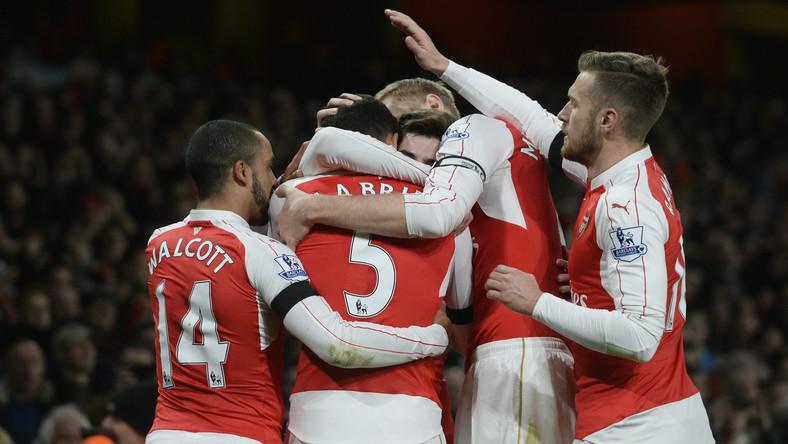 Radość piłkarzy Arsenalu