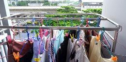 """W """"chrześcijańskim bloku"""" nie wolno wywieszać prania. Awantura o bieliznę na balkonie"""