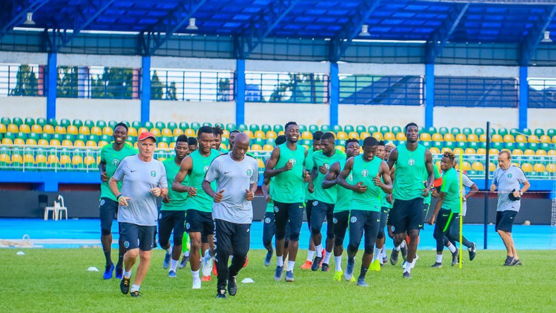 24 players are currently in Super Eagles  camp in Asaba (Twitter/Super Eagles)