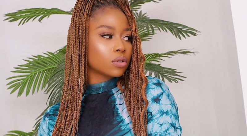 Lilly Afe is a true definition of an African beauty in Adire