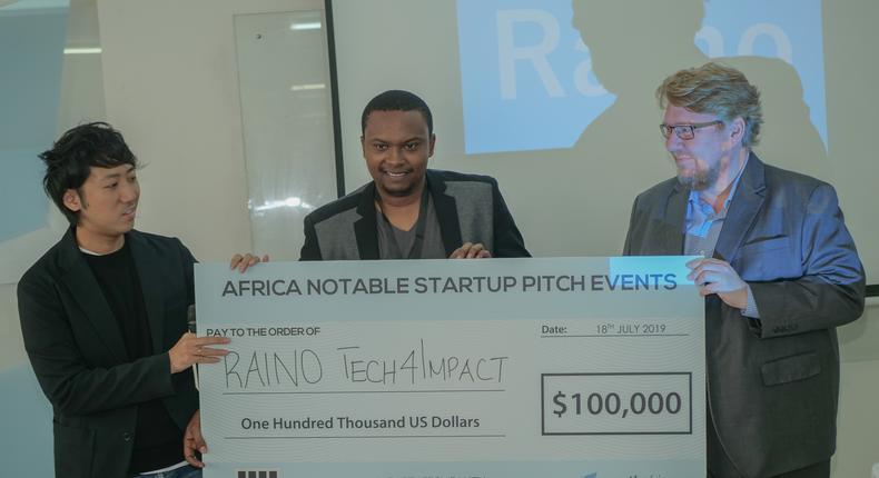 Kenyan startup Raino Tech4Impact wins Samurai Incubate Africa cash prize of $100,000 investment.