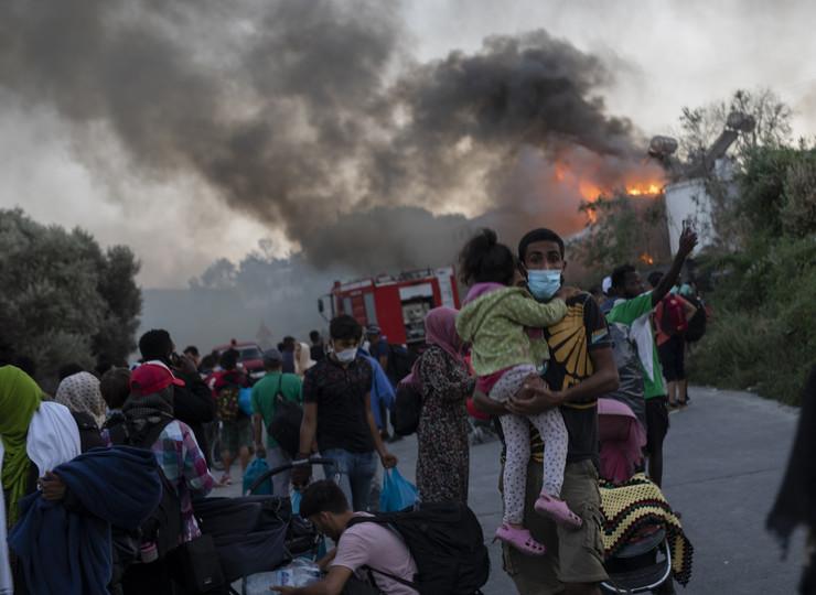 Lezbos, izbeglički kamp, migranti