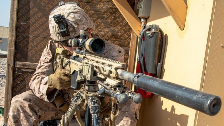 Amerykański żołnierz w Bagdadzie