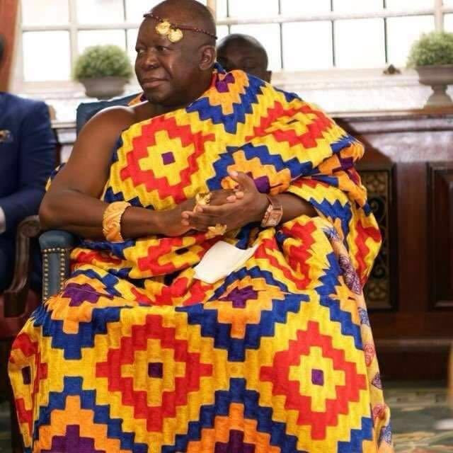 Otumfuo in his usual Kente