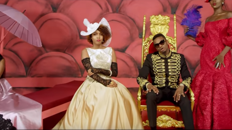 Harmonize feat Burna Boy and Diamond in 'Kainama' video [Youtube/Harmonize]