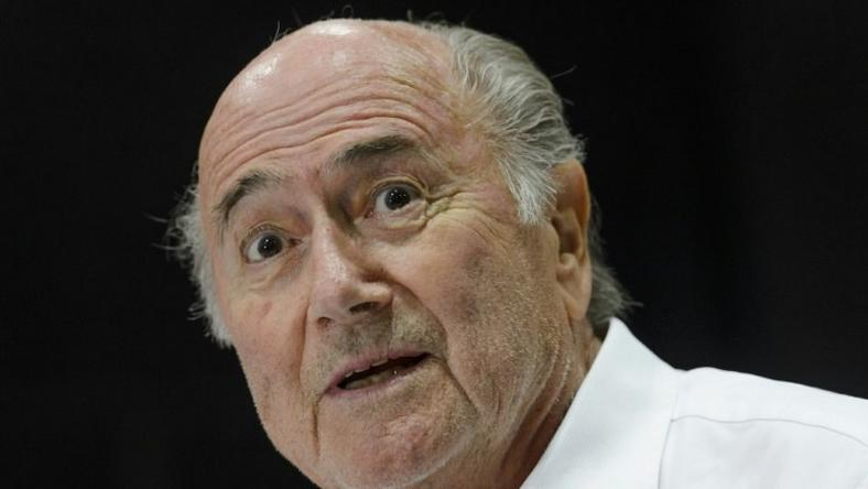 "Outgoing FIFA president Sepp Blatter answers to a press conference during the ""Sepp Blatter Tournament"" in Ulrichen on August 22, 2015"