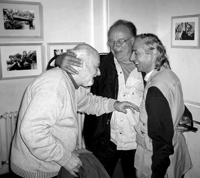 "Izlozba fotografija ""Dokumenti"", Rex 2004. god: Makavejev, Peternek i Miloš Cvetković Cvele"