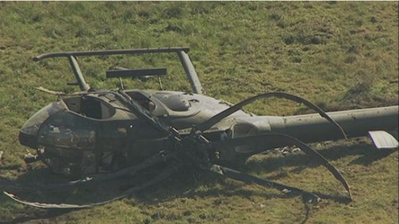 For Illustration: Nigerian Air Force helicopter crash-land in Katsina on Democracy Day. (Punch)
