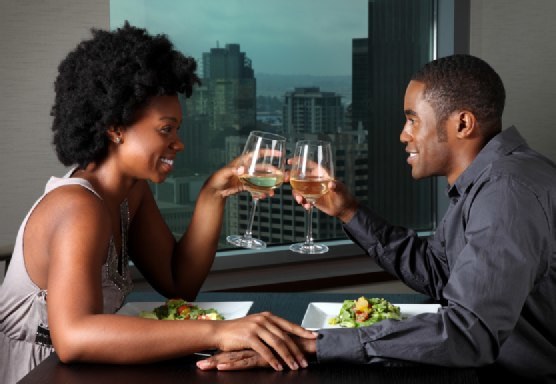 Black couple on a date.