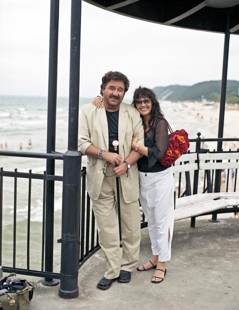 Krzysztof Krawczyk z żoną Ewą