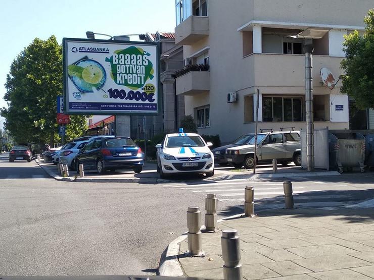 Policija, Podgorica, parkiranje, Facebook