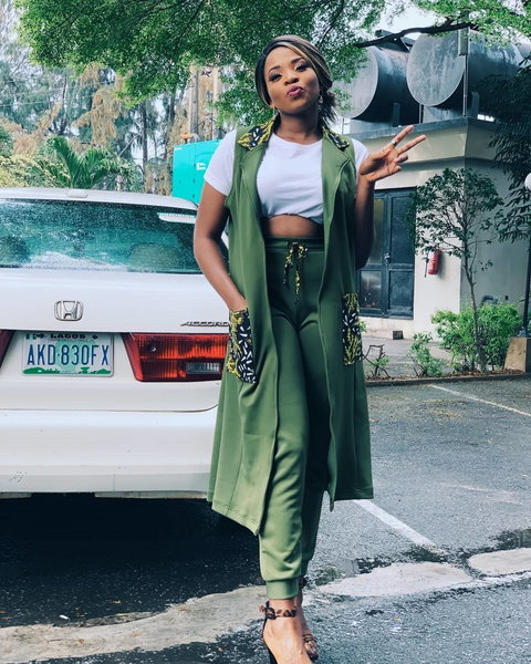 One of the housemates from the recently concluded Big Brother Naija 'Pepper Dem' Season four, Cindy is now a proud owner of a new car.[Instagram/CindyOkafor]
