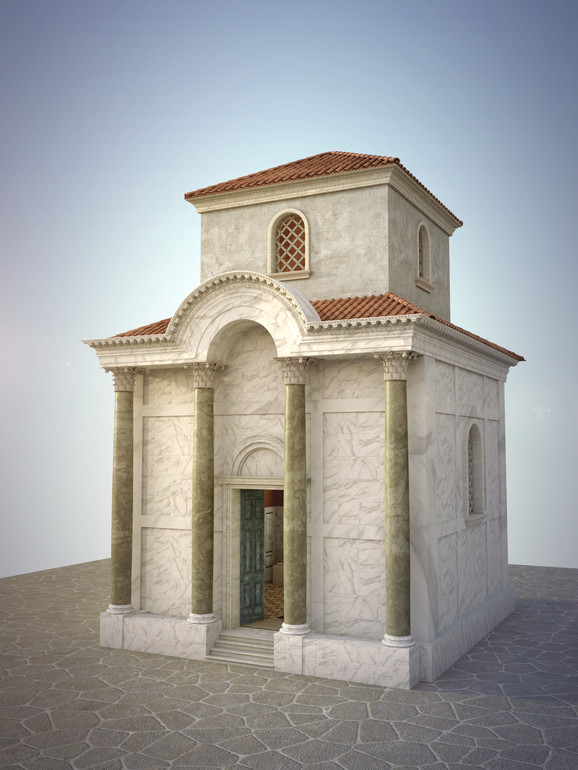 Carska palata - rekonstrukcija – tetrapilon objekat u dvorištu