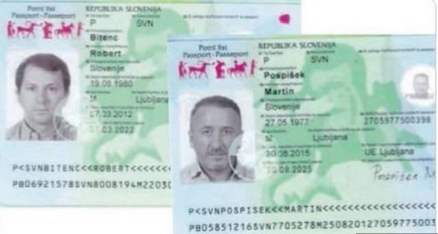 Damir Hadžić i Alan Kožar pasoši