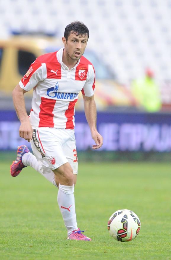 Dušan Anđelković u dresu crveno-belih