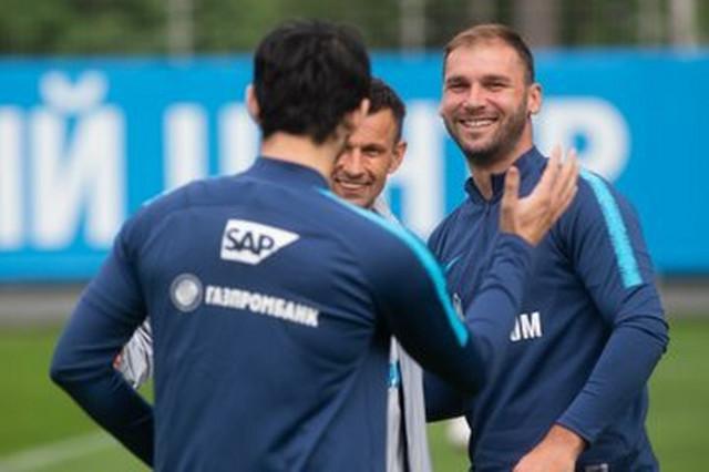 Branislav Ivanović na treningu FK Zenit