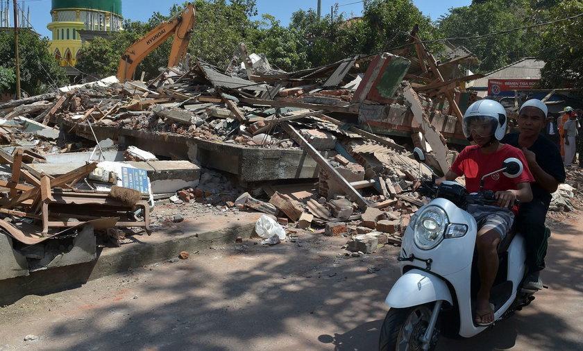 Kolejne trzęsienia ziemi na na wyspie Lombok