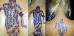 Fanka wytatuowała sobie na plecach podobiznę Lionela Messiego!