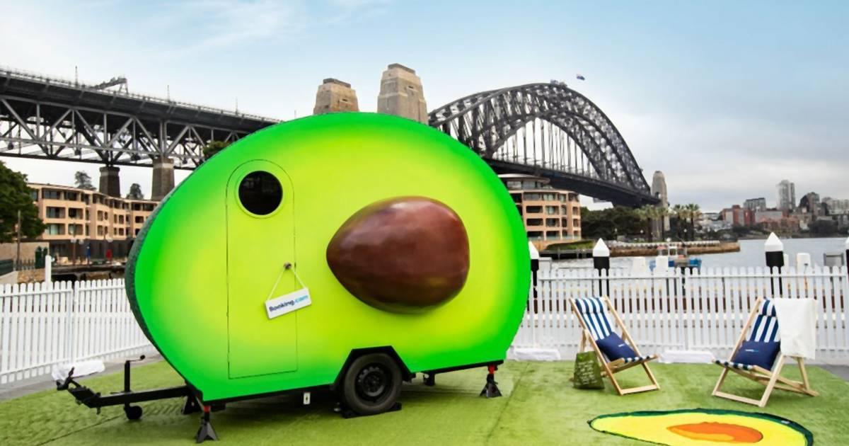 Du kannst jetzt in einem Avocado-Camper übernachten