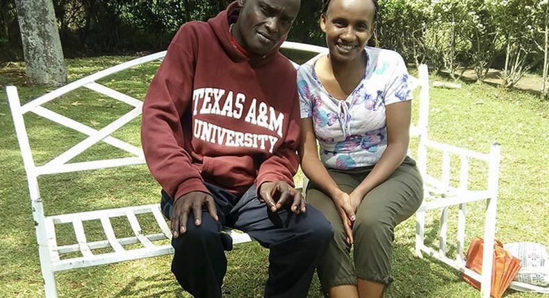 Wanja Mwaura with Patrick Hinga