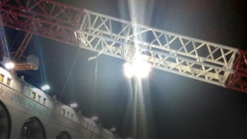 SAUDI ARABIA CRANE ACCIDENTS GRAND MOSQUE (Crane collapses on Grand Mosque in Mecca, Saudi Arabia)