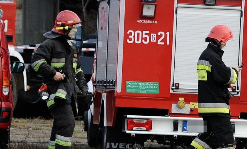 Ogień nad urzędem miasta w Raciborzu