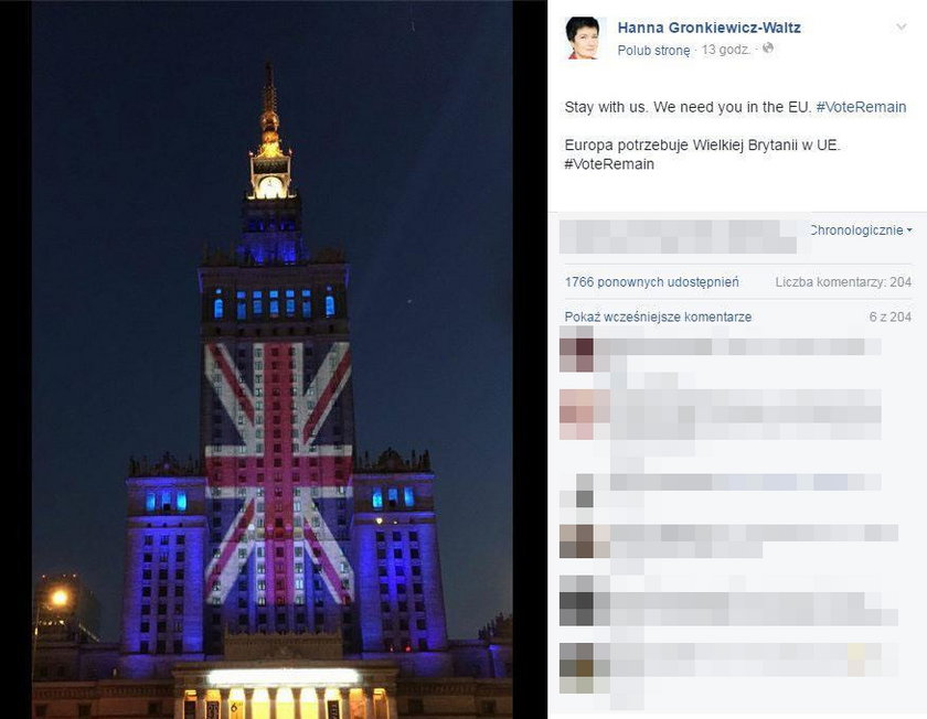 Prezydent Warszawy apeluje: Zostańcie z nami!
