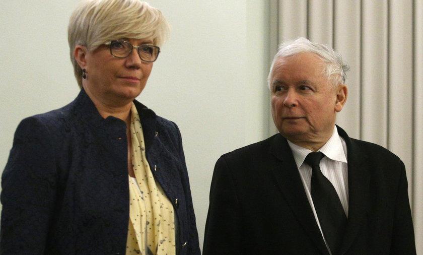 Na zdjęciu: Julia Przyłębska, obecna prezes TK i Jarosław Kaczyński, prezes PiS.