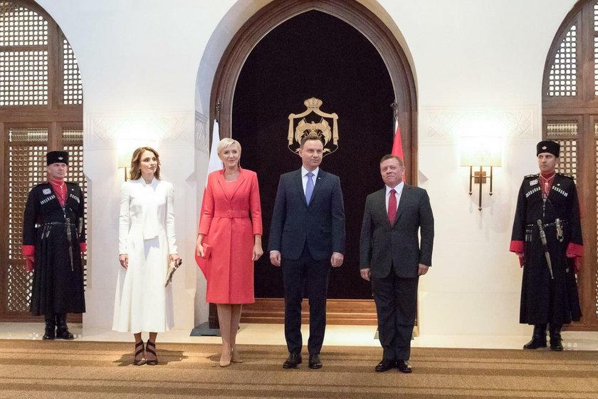 Agata Duda kontra królowa Rania w Jordanii.