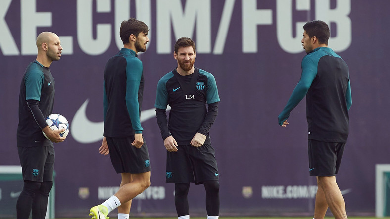 Lionel Messi, Luis Suarez, Javier Mascherano i Andre Gomes
