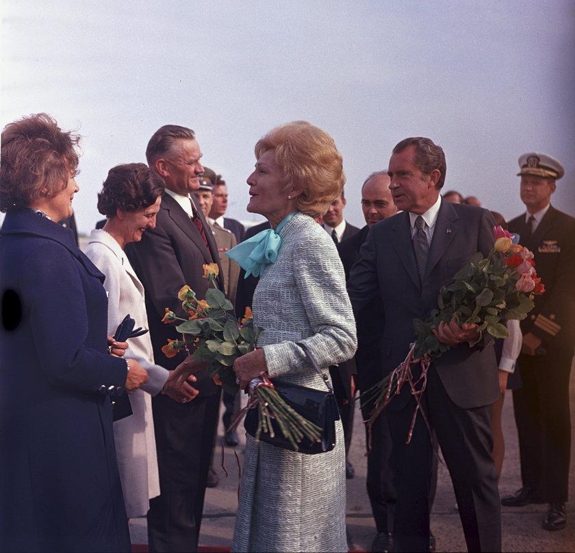 Pożegnanie pary prezydenckiej USA na lotnisku Okęcie