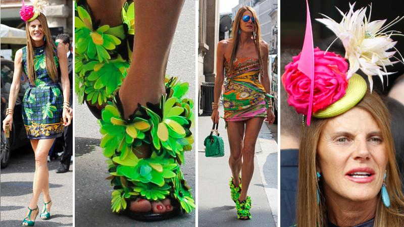 Anna Dello Russo na Milan Fashion Week