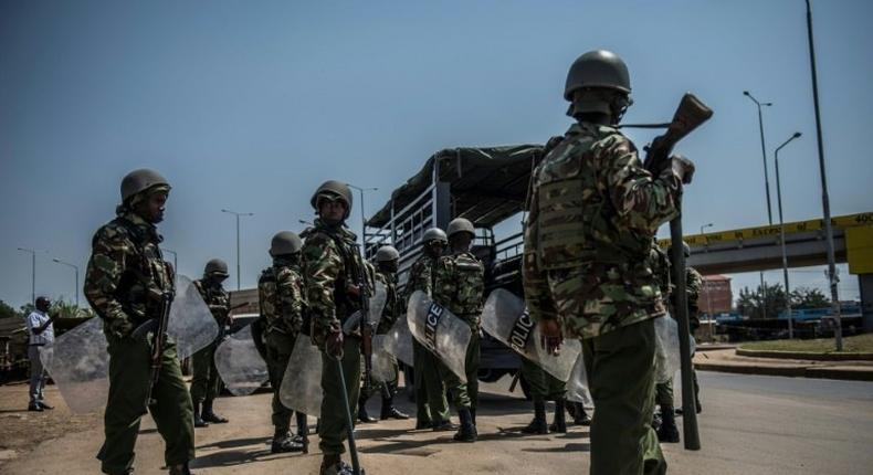 File Photo: 1 dead as police disperse traders at a market in Kakamega