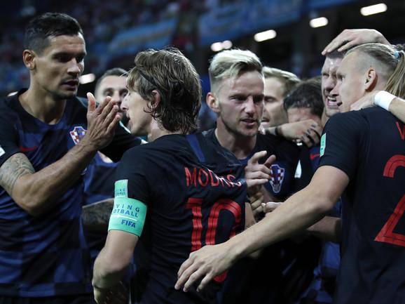 Hrvatski fudbaleri slave trijumf nad Argentinom