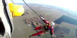 Tragiczny skok 35-letniego spadochroniarza. Tego filmu nie da się oglądać!