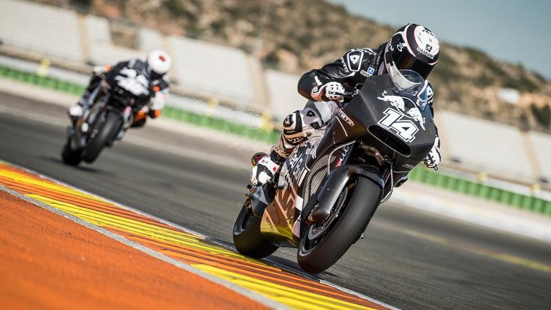KTM RC16 podczas testów MotoGP w Walencji